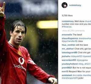 Vardy Breaks Van Nistelrooy